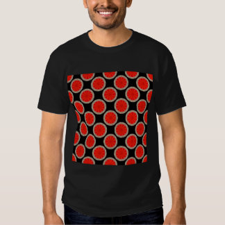 orange and black circles t-shirt