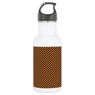 Orange and Black Diagonal Stripes 532 Ml Water Bottle