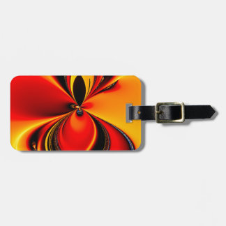 Orange and Black Flavor Fractal Luggage Tag