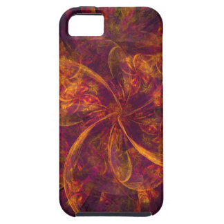 Orange And Black Fractal Tough iPhone 5 Case