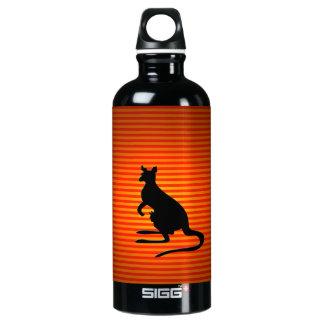 Orange and Black Kangaroo Silhouette SIGG Traveller 0.6L Water Bottle