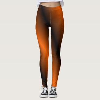 Orange and Black Leggings