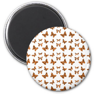 Orange and Black Leopard Spotted Butterfly Pattern Magnet