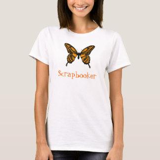 Orange and Black Monarch Butterfly, Scrapbooker T-Shirt