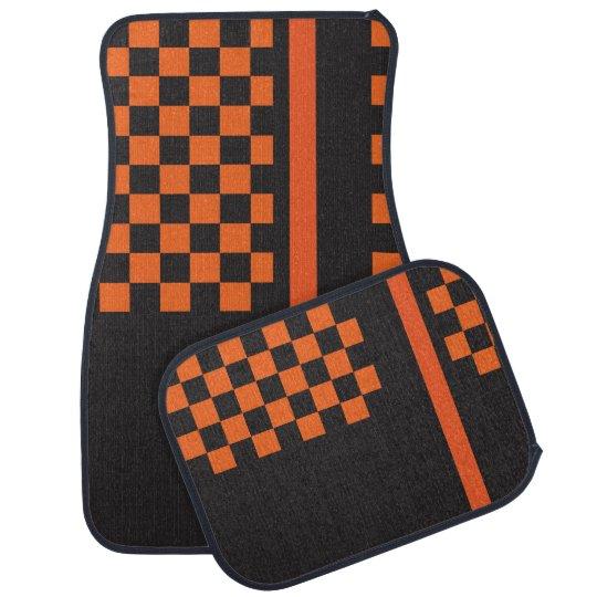 Orange and Black Racing Stripe | Monogram Car