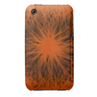 Orange and black star  iPhone 4/4S Vibe Unive Case-Mate iPhone 3 Case
