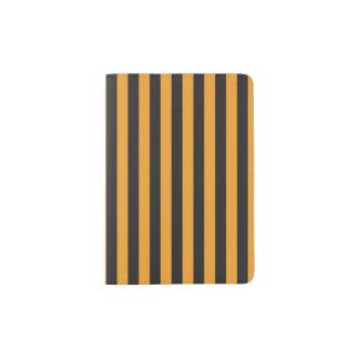 Orange and Black Stripes Passport Holder