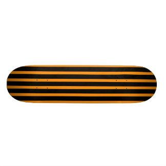 Orange and Black Stripes Skateboard