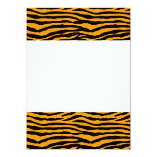 Orange and Black Tiger Stripes 14 Cm X 19 Cm Invitation Card