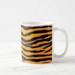 Orange and Black Tiger Stripes Basic White Mug