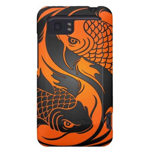 Orange and black yin yang koi fish zazzle for Orange and black koi