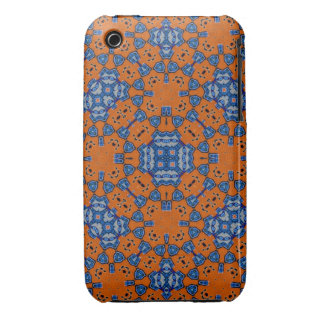 Orange and blue abstract pattern Case-Mate iPhone 3 cases