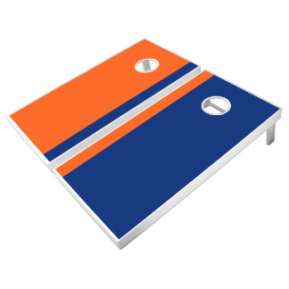 Orange and Blue Add Your Logo