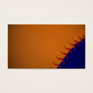 Orange and Blue Baseball Business Card