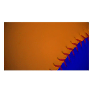 Orange and Blue Baseball Business Card Templates