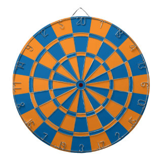 Orange And Blue Dartboard
