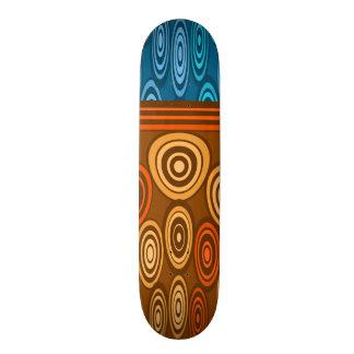 Orange and blue design 20 cm skateboard deck