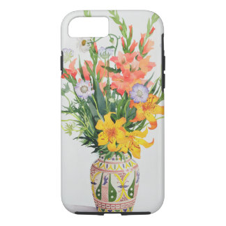 Orange and Blue Flowers in a Moroccan Vase iPhone 8/7 Case