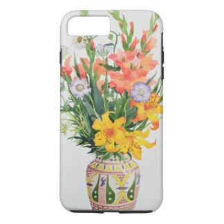 Orange and Blue Flowers in a Moroccan Vase iPhone 8 Plus/7 Plus Case