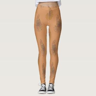 Orange and Blue Paisley Leggings