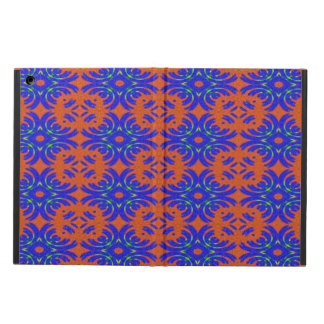 Orange and blue pattern iPad air case