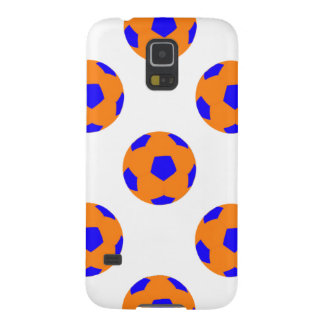 Orange and Blue Soccer Ball Pattern Galaxy S5 Cover