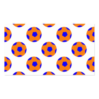 Orange and Blue Soccer Ball Pattern Pack Of Standard Business Cards