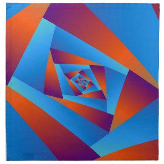 Orange and Blue Spiral Napkins