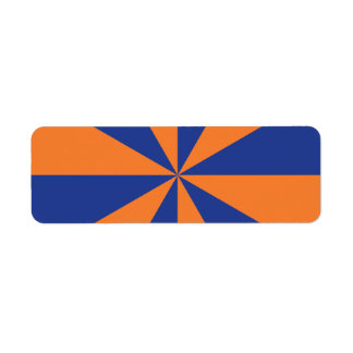 Orange and Blue Starburst Return Address Label
