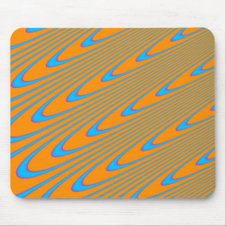 Orange and Blue Swirl Mousepad