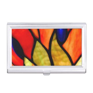 Orange and Blue Tiffany Case For Business Cards