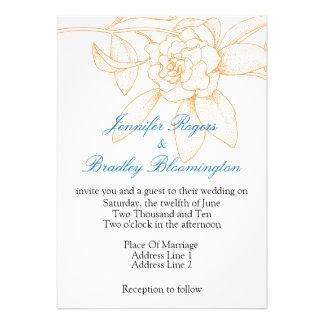 Orange And Blue Wedding Invitations