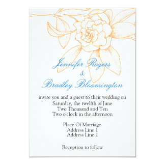 Orange And Blue Wedding Invitations