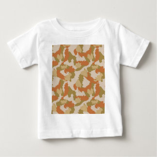 Orange and Brown Camouflage Baby T-Shirt