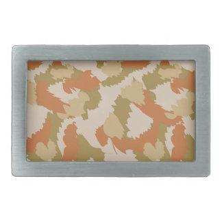 Orange and Brown Camouflage Belt Buckle