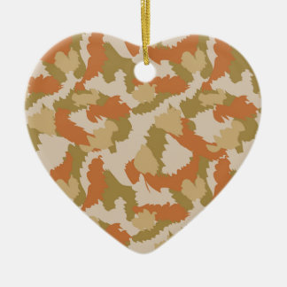 Orange and Brown Camouflage Christmas Ornament
