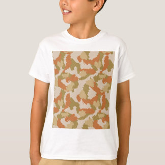 Orange and Brown Camouflage T-Shirt