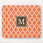 Orange and Brown Moroccan Monogram