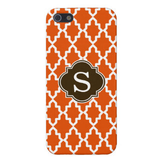 Orange and Brown Moroccan Monogram iPhone 5 Covers