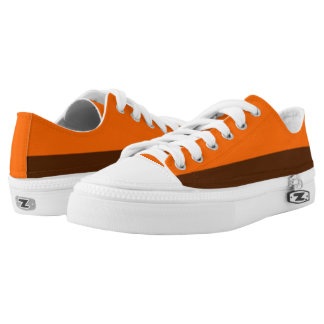 Orange and Brown Two-Tone Lo-Tops