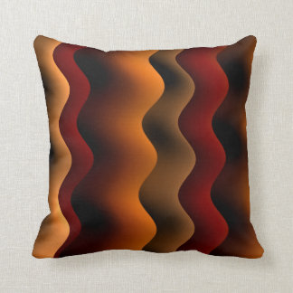 Orange and Brown Wavy Stripes Cushion
