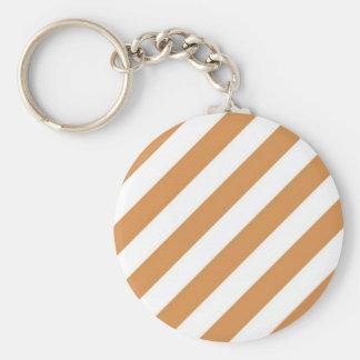 Orange And Cream Stripe Key Chain