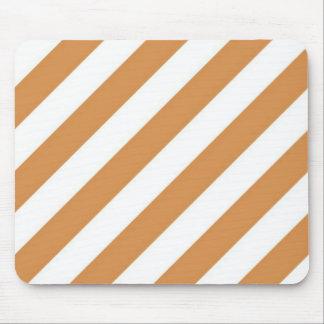 Orange And Cream  Stripe Mouse Pad