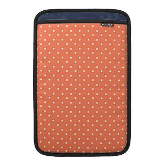 Orange and Cream Vintage Polka Dots Pattern MacBook Sleeves
