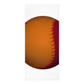 Orange and Dark Red Baseball Rack Card Design