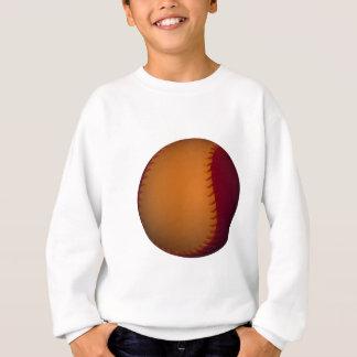 Orange and Dark Red Baseball Sweatshirt