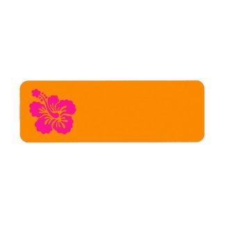 Orange and Deep Pink Hibiscus