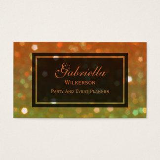 Orange And Gold Glitz Business Cards