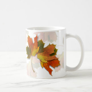 Orange And Golden  Autumn Leaves Coffee Mug