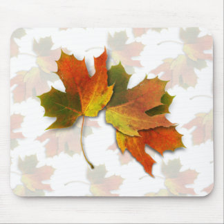 Orange And Golden  Autumn Leaves Mouse Mat